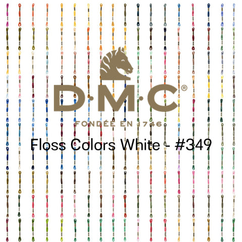 DMC 6-strand Floss #White-349