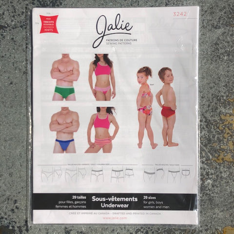 Jalie: Underwear for men, women and children