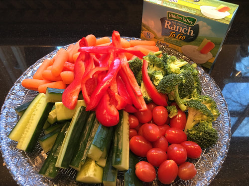 Veggie tray and dip