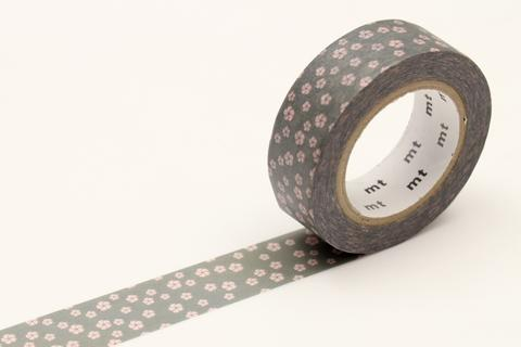 MT Washi Tape - Grey Flower (Nejiriume Namari)