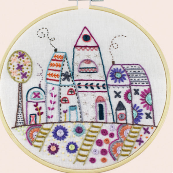 Un Chat Embroidery Kit: Nordic Village