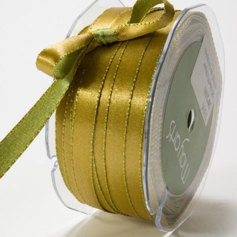 "Satin Reversible Edge Stitched 3/8"" Ribbon"