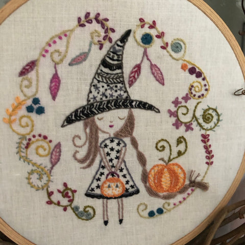 Un Chat Embroidery Kit: Little Witch