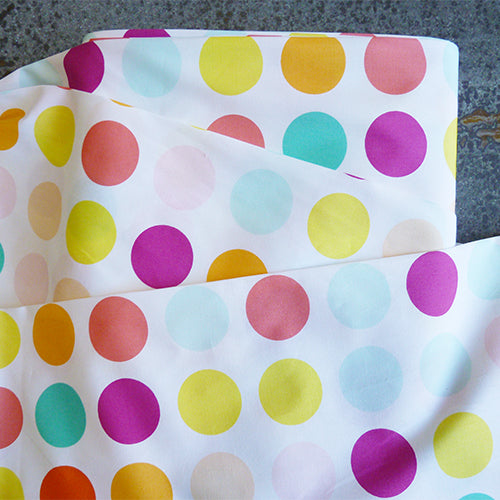 art gallery fabric polka dot colorful quilting cotton