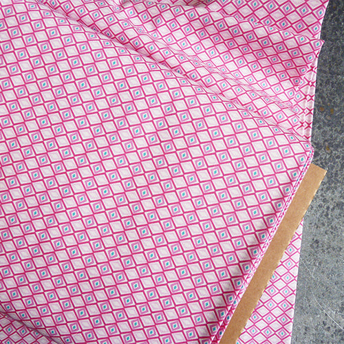art gallery fabrics quilting cotton geometric diamond pink
