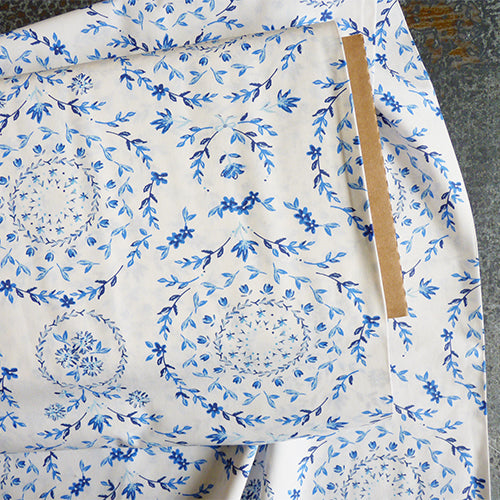 art gallery fabrics quilting cotton blue flower print