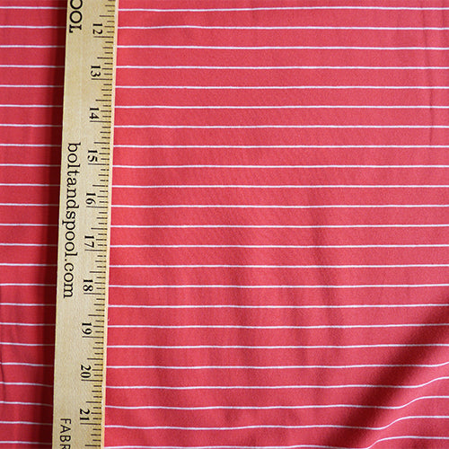 Art Gallery Fabrics Knit : Striped Sleek Pink Thumbnail