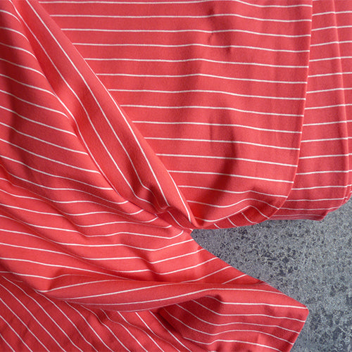 art gallery fabric knit stripe sleek pink