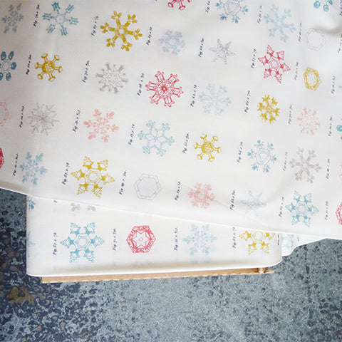 art gallery fabrics little town by amy sinibaldi snow crystals snowflakes