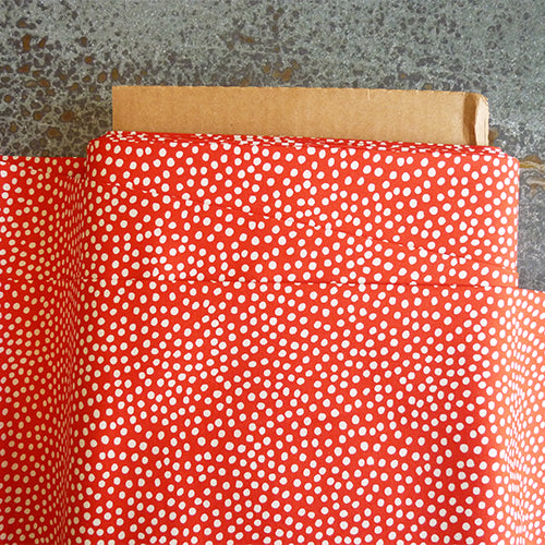 art gallery fabric red white polka dot quilting cotton