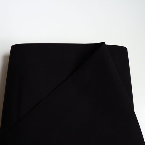 Art Gallery Fabrics : Pure Solids - Caviar black quilting cotton