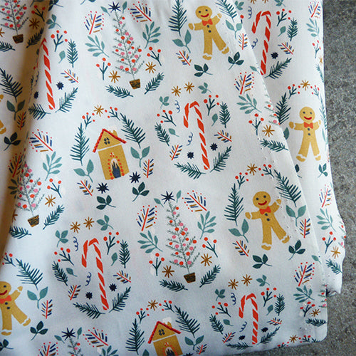 Art Gallery Fabrics : Cozy & Joyful - Ginger Joy christmas quilting cotton