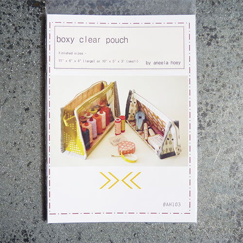 Aneela Hoey Patterns : Boxy Clear Pouch Thumbnail