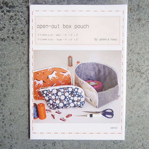 aneela hoey sewing organizer pattern open out box pouch