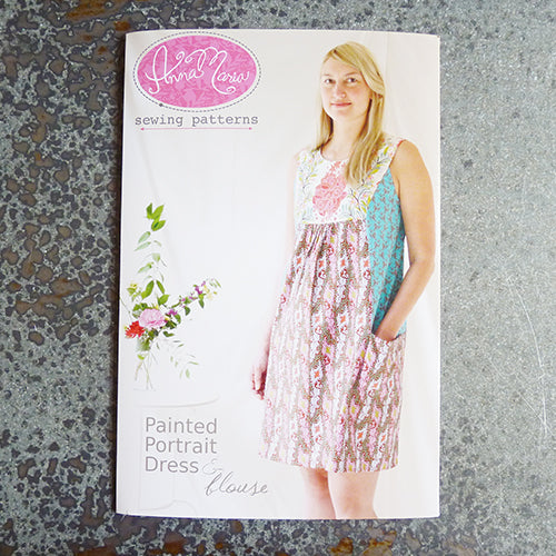 anna maria horner sewing pattern painted portrait dress