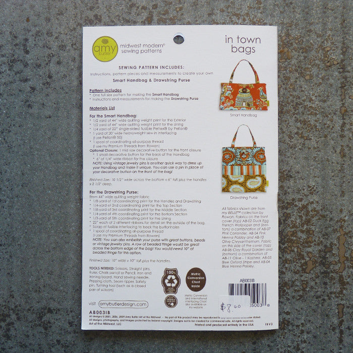 Amy Butler Patterns : In Town Bags Thumbnail