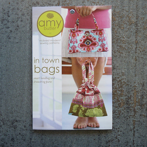 Amy Butler Patterns : In Town Bags sewing pattern front