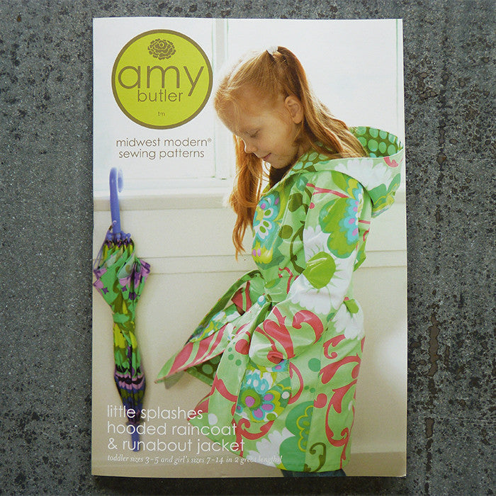 Amy Butler Patterns : Little Splashes Raincoat sewing pattern front