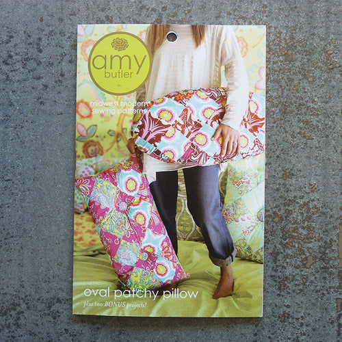 Amy Butler Patterns : Oval Patchy Pillow sewing pattern front