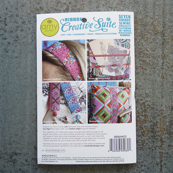 Amy Butler Patterns : Ribbon Creative Suite Pattern sewing pattern back