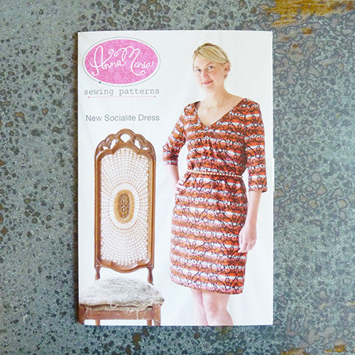 anna maria horner sewing pattern new socialite dress