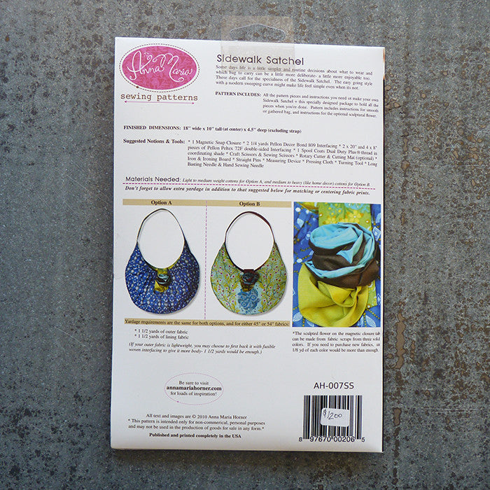 Anna Maria Patterns : Sidewalk Satchel Thumbnail