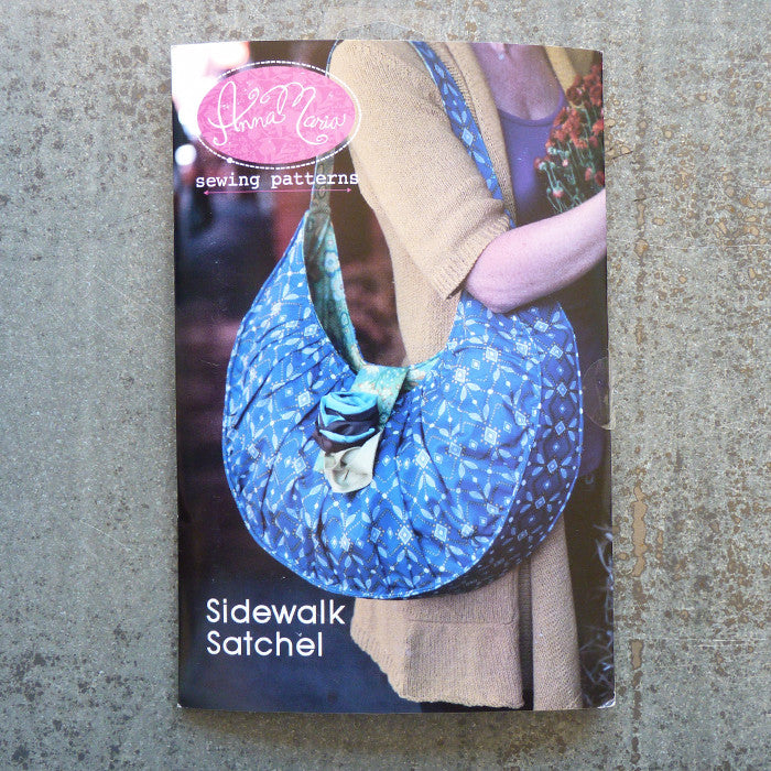 Anna Maria Patterns : Sidewalk Satchel sewing pattern