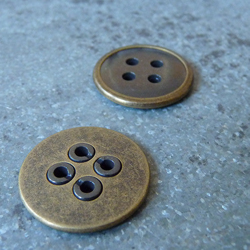 Antique Brass Button