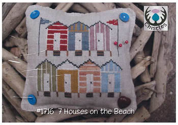 Counted Cross Stitch Pattern: 7 Houses on the Beach