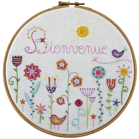 Un Chat Embroidery Kit: Welcome to the Garden