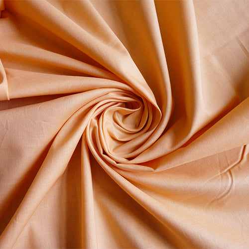 Birch Organic quilting cotton Fabric : Mod Basic - Solid Peachy