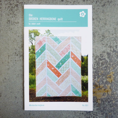 violet crafts broken herringbone quilt sewing pattern