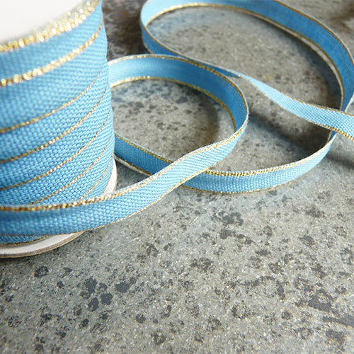 studio carta drittofilo cotton ribbon blue gold