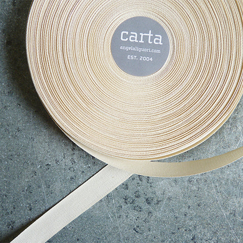 studio carta cotton ribbon natural off white