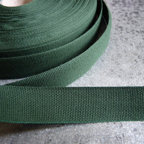 Studio Carta : Tight Weave Cotton Ribbon - Cypress green