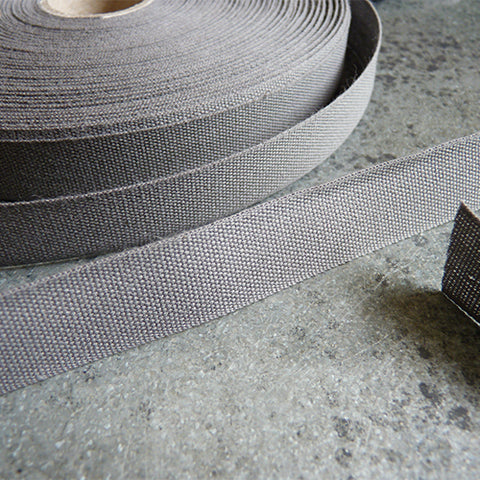 Studio Carta : Tight Weave Cotton Ribbon - Gravel gray