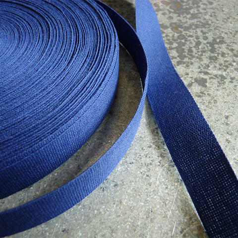 Studio Carta : Tight Weave Cotton Ribbon - Navy blue