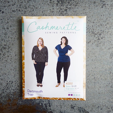 cashmerette sewing pattern dartmouth top