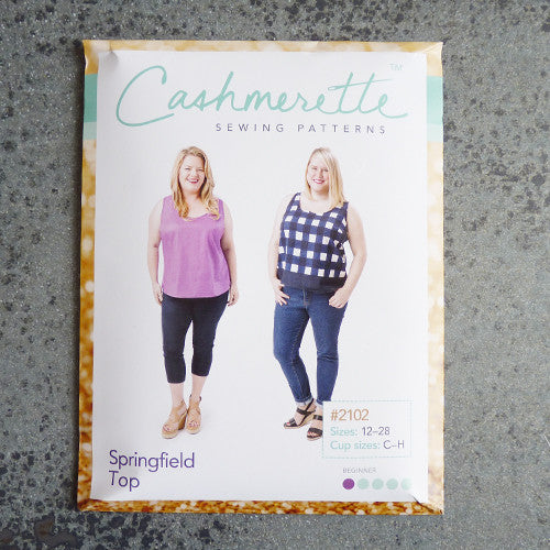 cashmerette sewing pattern springfield tank top