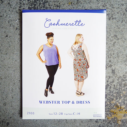 cashmerette sewing pattern webster top and dress