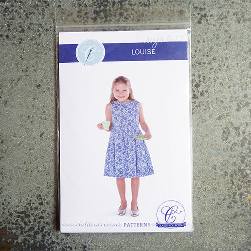 childrens corner sewing pattern louise dress