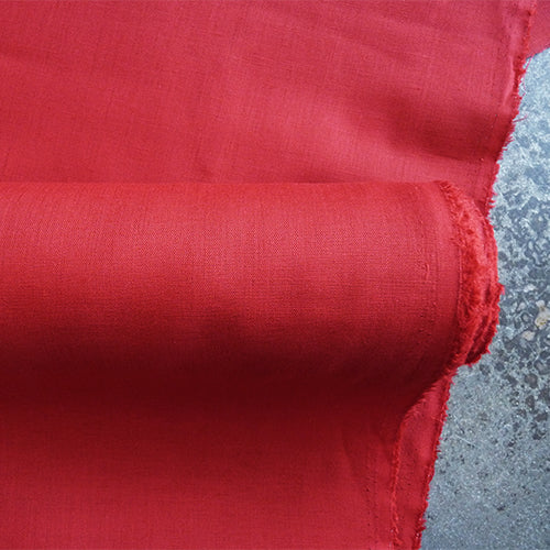 plain weave cotton red