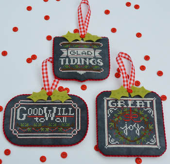 Counted Cross Stitch Pattern: Chalkboard Ornaments Part 2