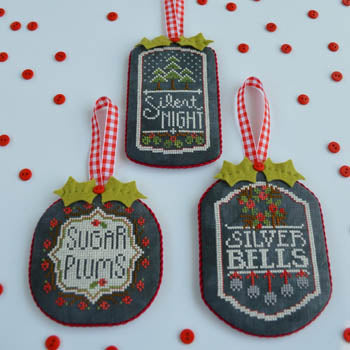 Counted Cross Stitch Pattern: Chalkboard Ornaments Part 3