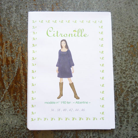 citronille sewing pattern albertine adult dress