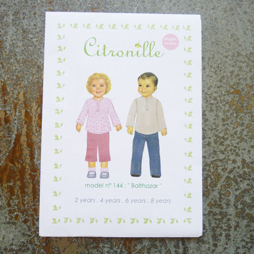 citronille sewing pattern balthazar child top