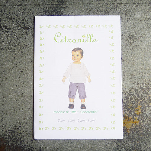 citronille sewing pattern constantin child top