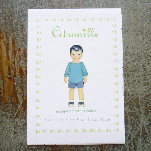 citronille sewing pattern donald child top