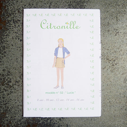 citronille sewing pattern lucie child teen skirt