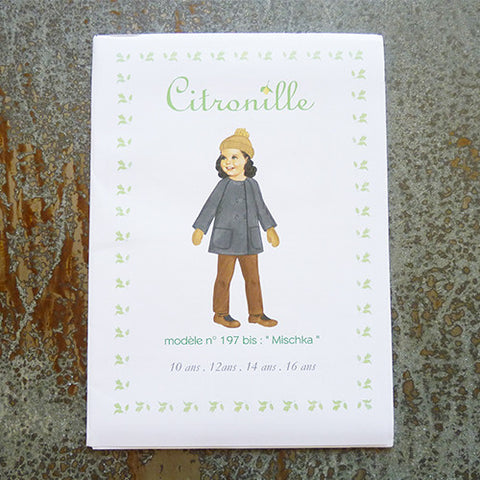citronille sewing pattern mischka teen coat